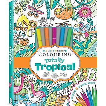 Kaleidoscope Colouring Totally Tropical Marker Kit by Hinkler Books Hinkler Books
