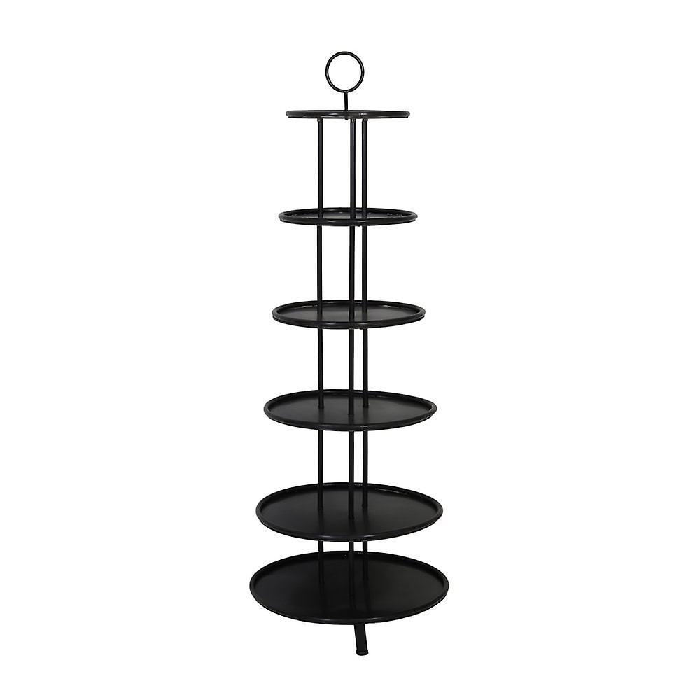 Lumière et vie Etagere 6 Couches 61x175cm Leida Antique Black