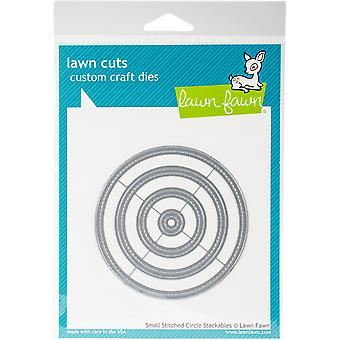 """Lawn Cuts Custom Craft Stackables Dies-Small Stitched Circles, .5"""" To 3.5&"""""""