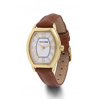 Horloge Trendy Kiss TC10117-01 - Nikka Brown en gouden vrouw