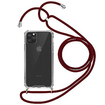 Braided Nylon Lanyard Phone Case for Apple iPhone 11 Pro - Forcell, Red