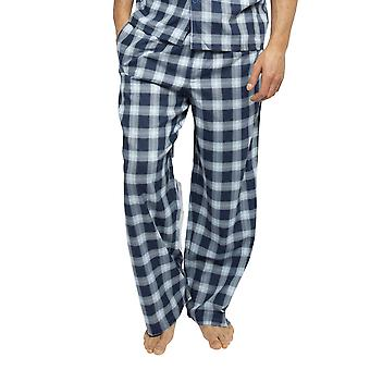 Cyberjammies 6451 Uomini's Billy Blue Check Cotton Tessuto Pyjama Pant