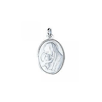 M daille virgin the child or 750/1000 white (18K)