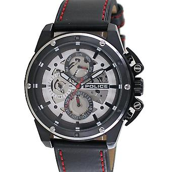 Police Herren Uhr Armbanduhr Leder Analog Splinter PL14688JSBS.04