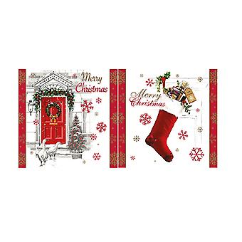 Eurowrap Christmas Stocking Acetate Cards (Box With 24 Packs Of 12 Greetings Cards)
