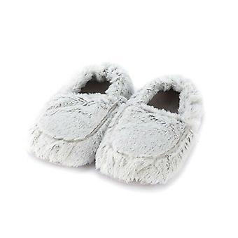 Warmies Grijze Marshmallow Slippers