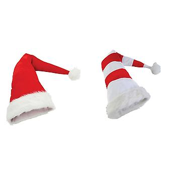 Christmas Shop Long Length Santa Hat (2 Designs)