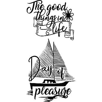 Stamperia Cling Stamps-Sailing Ship By Johanna Rivero