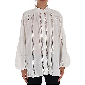 Zimmermann 5699ivory Women's White Cotton Blouse