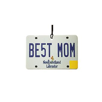 NEWFOUNDLAND AND LABRADOR - Best Mom License Plate Car Air Freshener