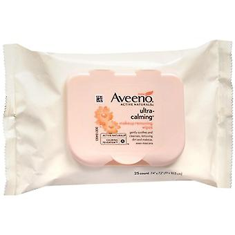 Aveeno ultra calming makeup removing wipes, 25 ea