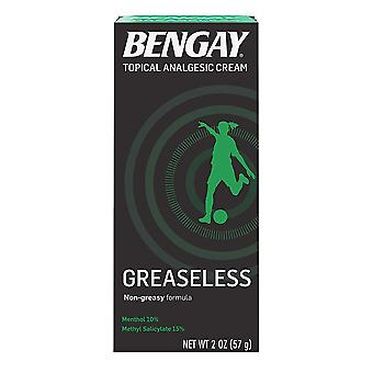 Bengay greaseless, pain relieving cream, 2 oz