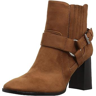 BCBGeneration Women's Agnes Harness Bootie Ankle Boot, Chocolate Suede, 6 M US