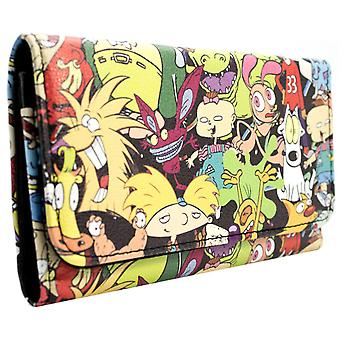 Nickelodeon Cartoons with Rugrats ID & Card Tri-Fold Purse