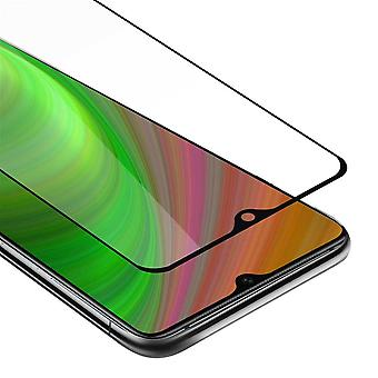 Cadorabo Full Screen Tank Foil for OnePlus 7T - Protective Film in TRANSPARENT with BLACK - Tempered Display Protective Glass in 9H Hardness with 3D Touch