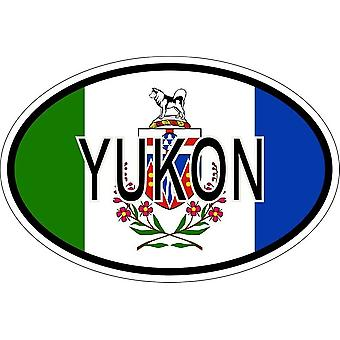 Sticker sticker oval oval flag code country country yukon