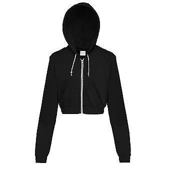 AWDis las campanas solo mujeres/señoras Girlie recortada completas Zip chaqueta sudadera con capucha