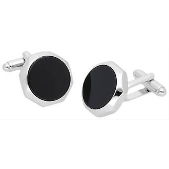 Duncan Walton Castigoni Onyx Cufflinks - Silver/Black