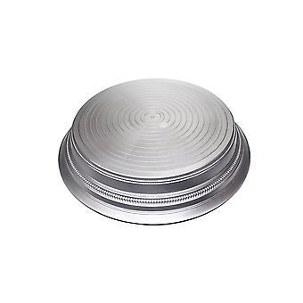 Culpitt runda plast kaka Stand-satin silver