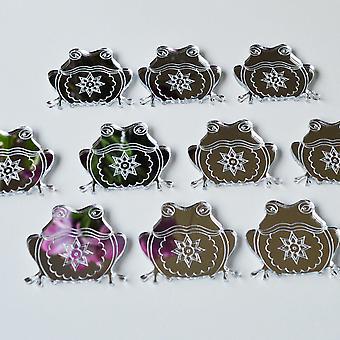 SitzenFrosch Mini Handwerk Größe Acryl Spiegel (10Pk)