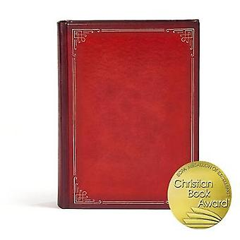 CSB Ancient Faith Study Bible - Crimson LeatherTouch-Over-Board Index