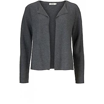 Masai Clothing Lori Grey Ribbed Knit Cardigan
