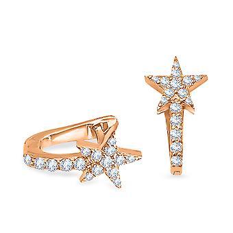 Korvakorut Cuff Star 18K kulta ja timantit