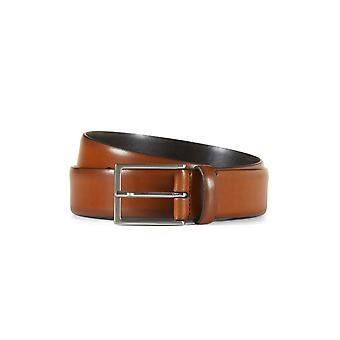 Leather belt nathan cognac brown