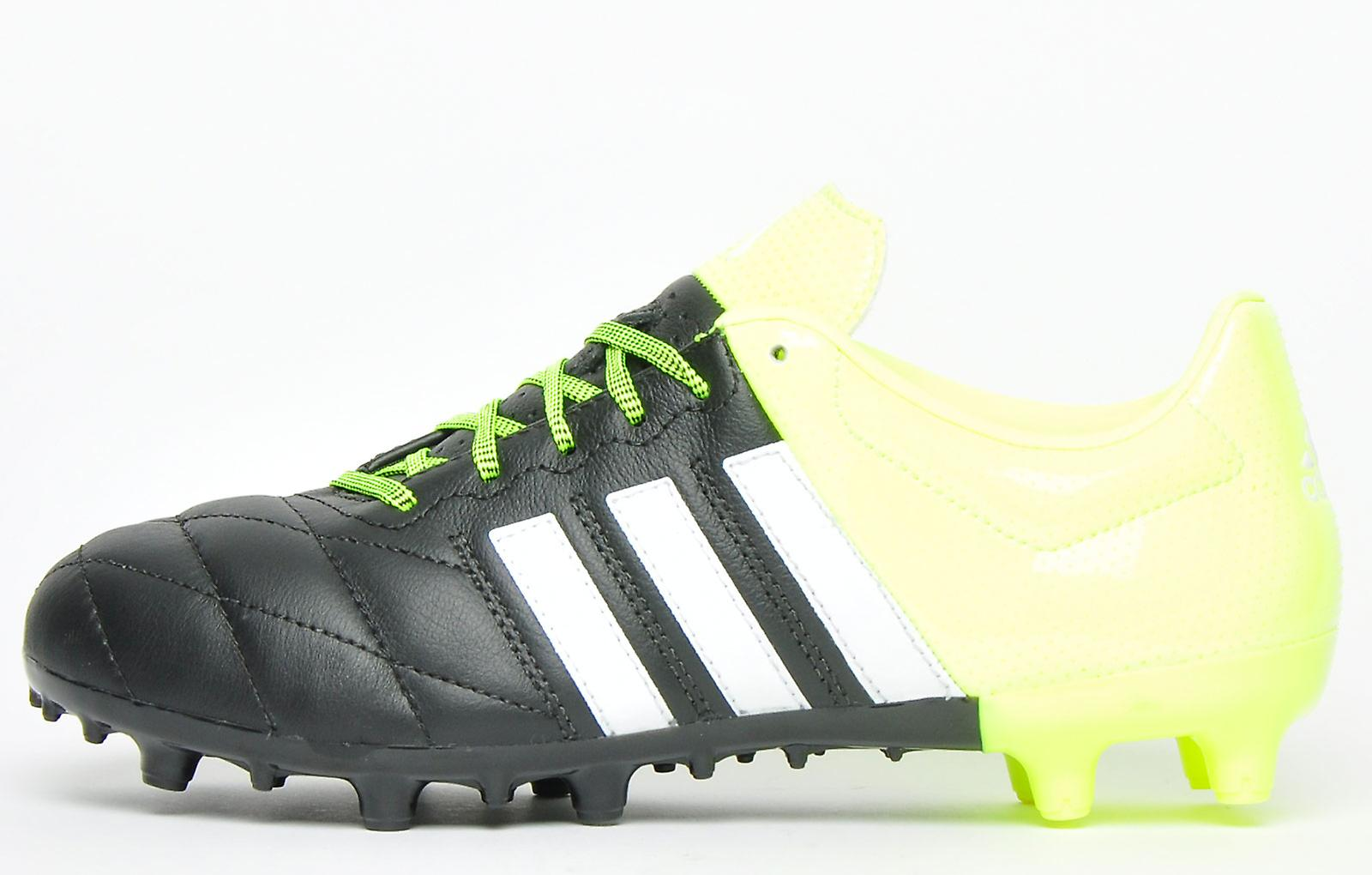 Adidas Ace 15.3 Fg / Ag Leather Yellow Black