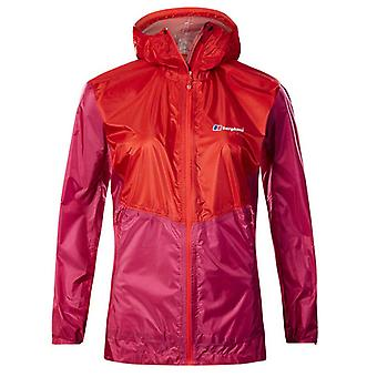 Berghaus Быстрый поход женщин дамы водонепроницаемый Открытый куртка пальто розовый / красный