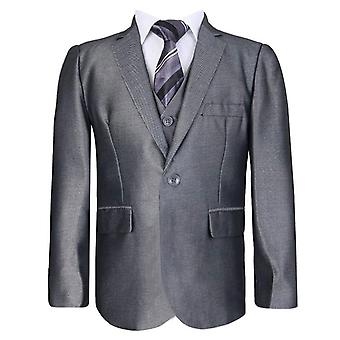 Boys Dark Silver Suit Set