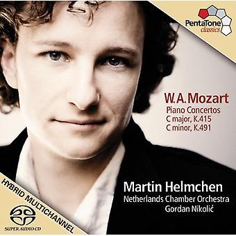 W.a. Mozart - Mozart: Piano Concertos, K. 415 & 491 [Includes Dvd] [CD] USA import