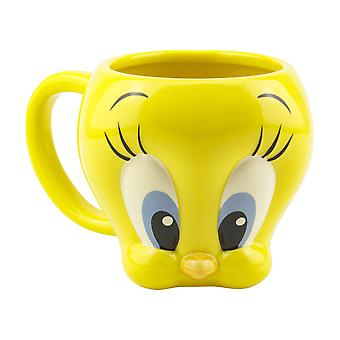 Tweety shaped 3D Mug Ufficialmente concesso in licenza Looney Tunes Ta Coffee Drinking Cup
