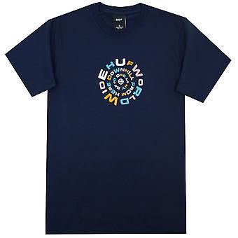 HUF Worldwide T-Shirts vers le bas Spiral S / S Tee