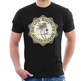 Route 66 Los Angeles Beach mannen T-shirt