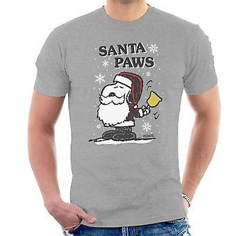 Erdnüsse Snoopy Santa Paws Weihnachten Männer's T-Shirt