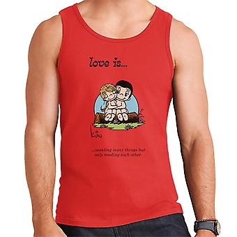 Love Is Wanting Many Things But Only Needing Each Other Men's Vest