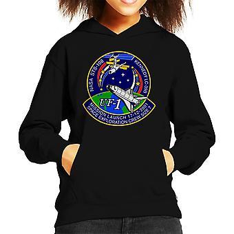 NASA STS 108 tratar de sudadera con capucha del equipo insignia cabrito