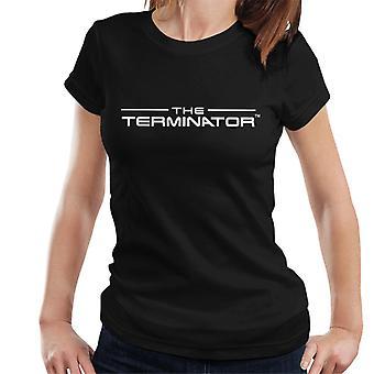 The Terminator Title Font Logo Text Women's T-Shirt