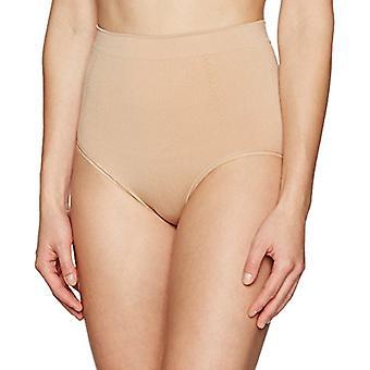 Brand - Arabella Women's Seamless Brief Shapewear with Tummy Control, Nude, Medium