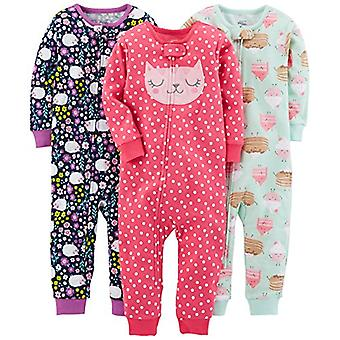 Semplici gioie di Carter's Baby Girls' 3-Pack Snug Fit Footless Cotton Pajamas, ...