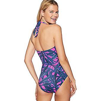 Brand - Coastal Blue Women's One Piece Swimsuit, Very Fuchsia/New Navy...