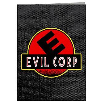 Evil Corp Jurassic Park Mr Robot Greeting Card