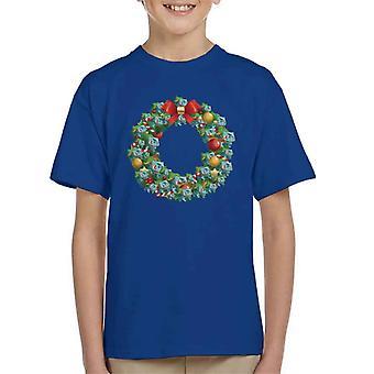 Pokemon Bulbasaur Christmas Wreath Kid's T-Shirt
