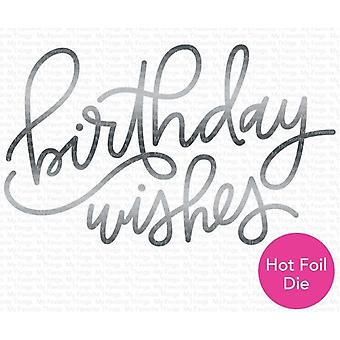 My Favorite Things Foiled Birthday Wishes Die-namics