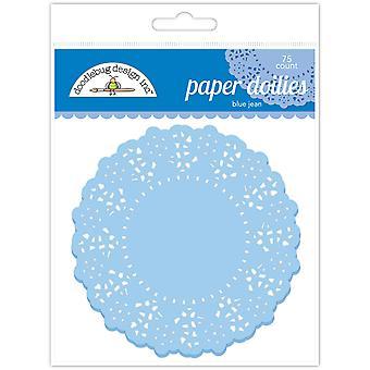 Doodlebug Design Blau Jean Doilies (75pcs) (4458)