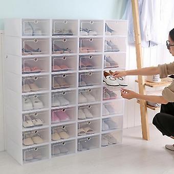 Vikbar Diy 1 Grid sko låda låda låddelare Hem Förvaringslåda Arrangör