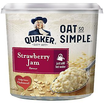 Quaker Oats So Simple Strawberry Jam Porridge Pot