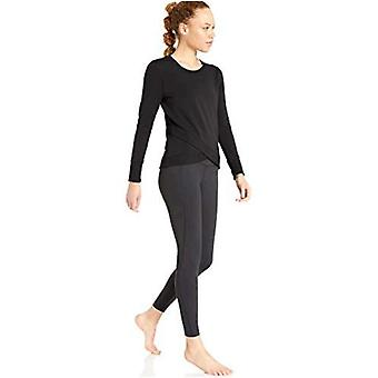 Core 10 Women's Cotton Modal French Terry Fleece Crossed Front Yoga Sweatshir...