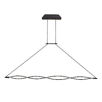 XL Ceiling Pendant 42W LED 2800K, 3400lm, Dimmable Frosted Acrylic, Brown Oxide